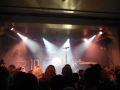 Wide shot of the stage
