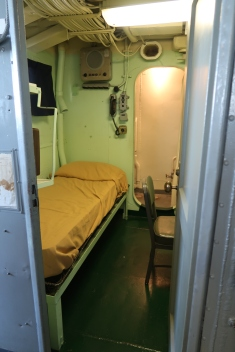 Captain had his own cabin inside the Pilot House for those late/Early Mornings